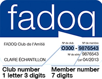 Membership card example