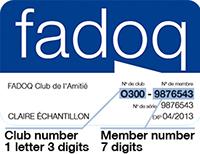 Membership card example