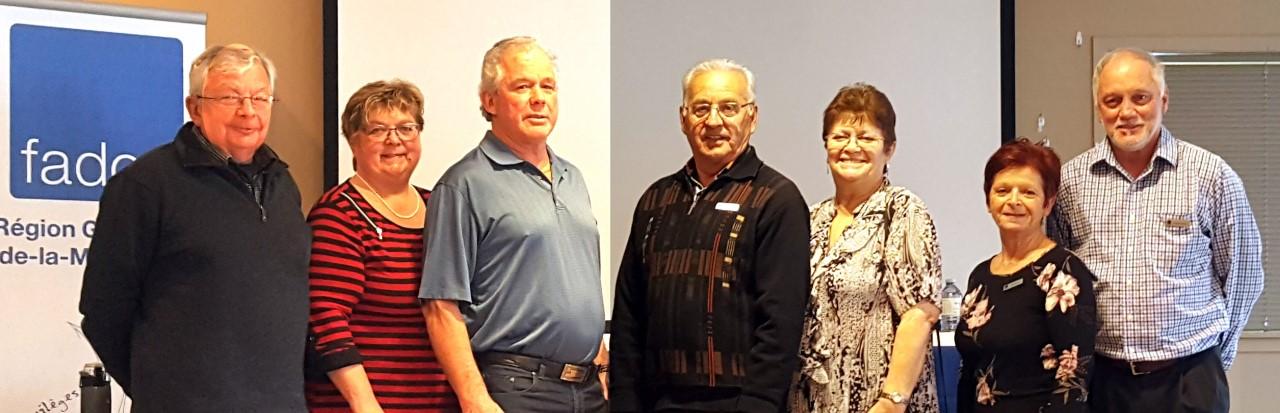 Membres du conseil d'administration de FADOQ - Région Gaspésie îles-de-la-Madeleine