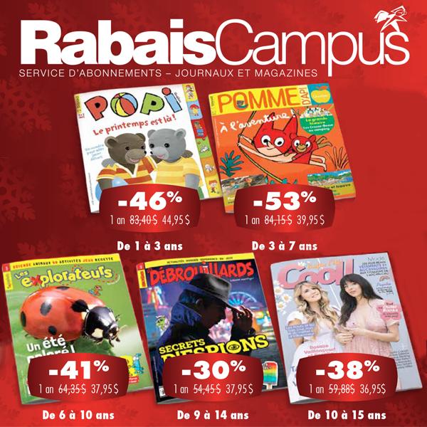 Promotion des Fêtes de Rabais Campus