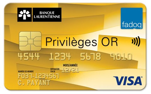 Banque Laurentienne - Carte Visa* Privilèges OR FADOQ