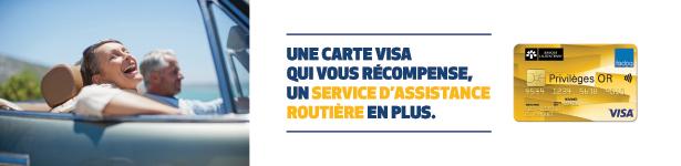 Publicité Carte Visa Privilèges OR FADOQ