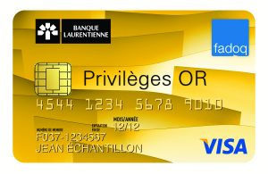 Carte VISA Privilèges OR FADOQ