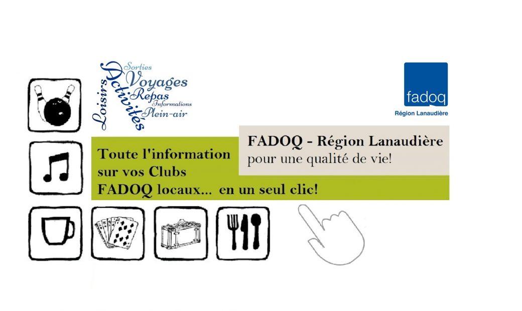 Pour connaître les programmations et les coordonnées de vos Clubs locaux FADOQ, cliquez sur la bannière! 🎳🎶🎲♦♣💃🍽🎉