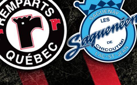 Match Saguenéens VS Ramparts à Québec... en famille !