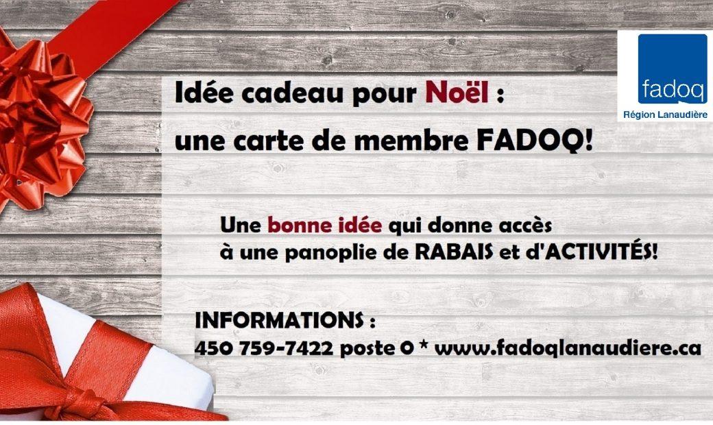 Offrir une carte FADOQ : le cadeau parfait pour toute personne de 50 ans et plus qui aime profiter de nombreux rabais et d'une panoplie d'activités de toutes sortes! 🎄🎀✨