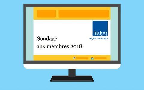 Sondage aux membres 2018 : félicitations au gagnant!
