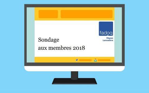 Sondage aux membres 2018