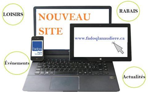 Lancement du site :  www.fadoqlanaudiere.ca