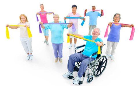 Exercices de groupe pour personne à mobilité réduite