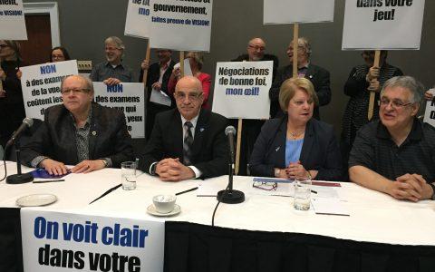 Conflit entre les optométristes et Québec