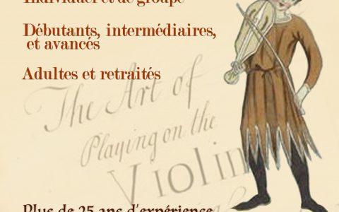 Cours de violon Jean-Pierre Brunet