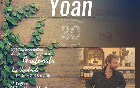 Spectacle bénéfice de Yoan au profit des projets au Guatemala