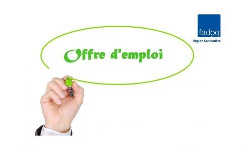 Offre d'emploi Lanaudière : secrétaire réceptionniste