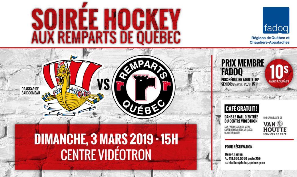 Soirée Hockey aux Remparts de Québec