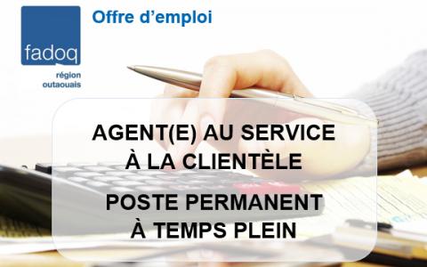 Offre d'emploi - Agente au service à la clientèle