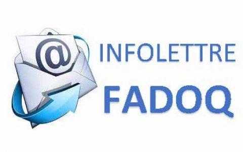Infolettre FADOQ - Région Estrie