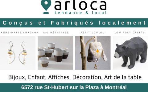 Arloca, boutique cadeau – artisans canadiens