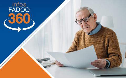 Infos FADOQ 360 : Le Supplément de revenu garanti