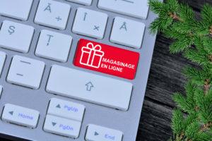 magasinage de Noël en ligne