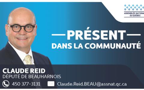 Contribution financière du député Claude Reid