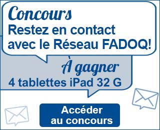 Concours Rester en contact avec le Réseau FADOQ à gagner 4 tablettes iPad 32G accéder au concours