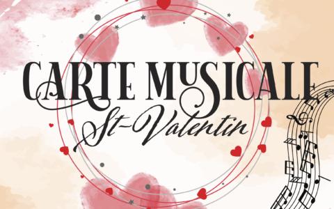 Carte Musicale St-Valentin