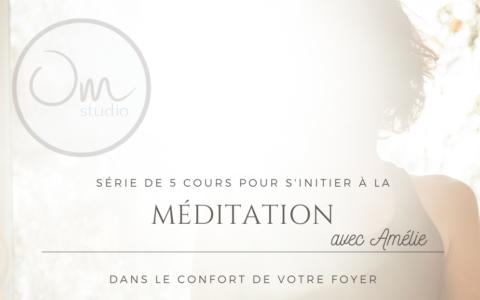 Cours de méditation avec Amélie Turcotte d'OM Studio