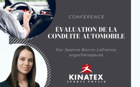 Conférence - Évaluation de la conduite automobile