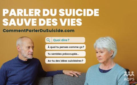Semaine nationale de prévention du suicide : briser le silence