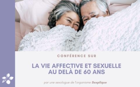 Conférence - La vie affective et sexuelle au delà de 60 ans