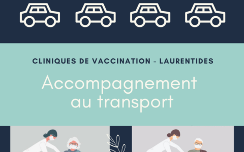 Vaccination COVID-19 : Accompagnement transport - Laurentides