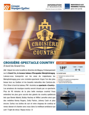 Croisière-spectacle Country