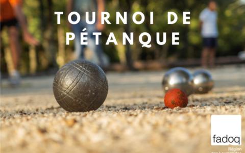 Tournoi de pétanque - Laurentides
