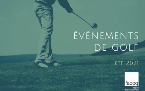 Événements de golf - Été 2021