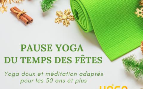 Pause Yoga du temps des fêtes